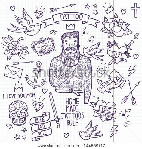 203 Best Inspired L Old School Images On Pinterest Tattoo Ideas