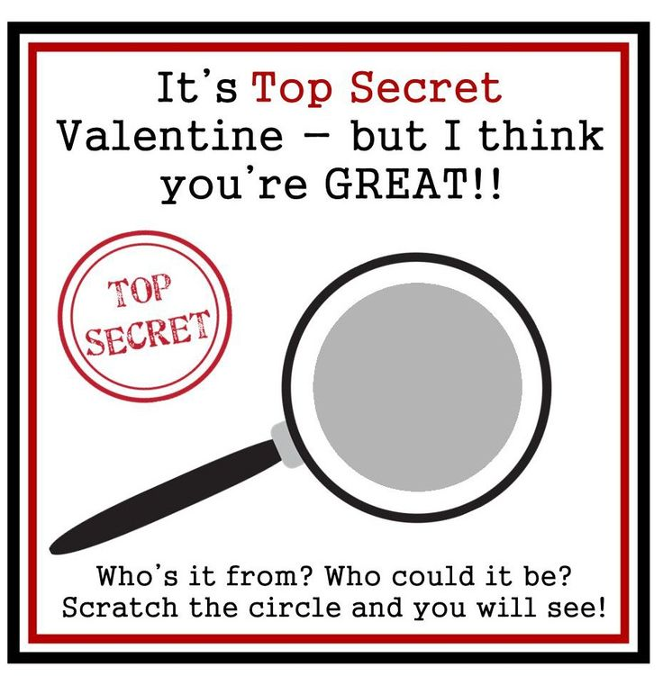 Personalized Secret Agent Spy Valentine Scratch Off Cards by beadedink on Etsy
