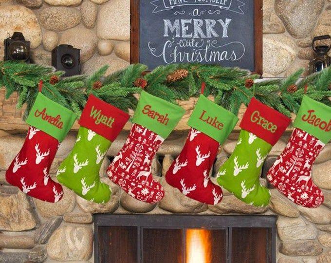 Christmas Stockings Personalized Christmas Stockings Embroidered With Names Personalized Stockings Christmas Stocking For The Family Family Christmas Stockings