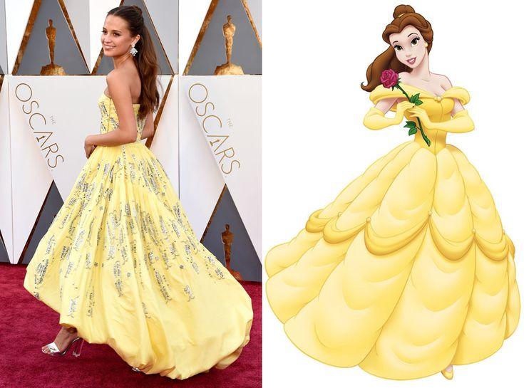 alicia vikander belle | 2016 Oscars, Academy Awards, Alicia Vikander, Belle, Beauty and the ...