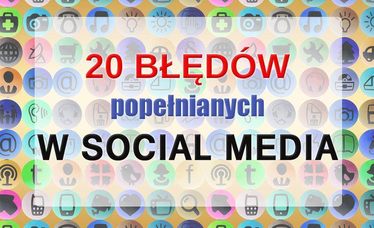 Błędy w social media mogą zadecydować o popularności twojej marki lub też jej upadku. Nie oszukuj się i dobrze przeanalizuj jak wyglądają twoje konta i czego w nich brakuje.