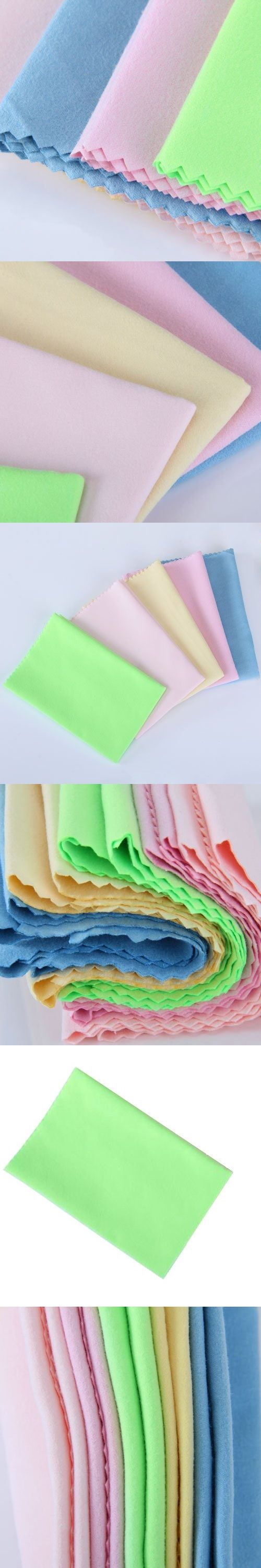 Microfibre Cleaning Cloths Camera Lens Eye/ Glasses GPS /Computer Clean Wipe Clothes Cleaner Random Color