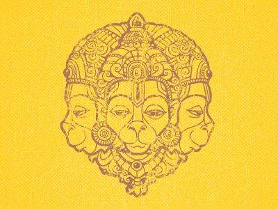 Hanuman illustration for t-shirt