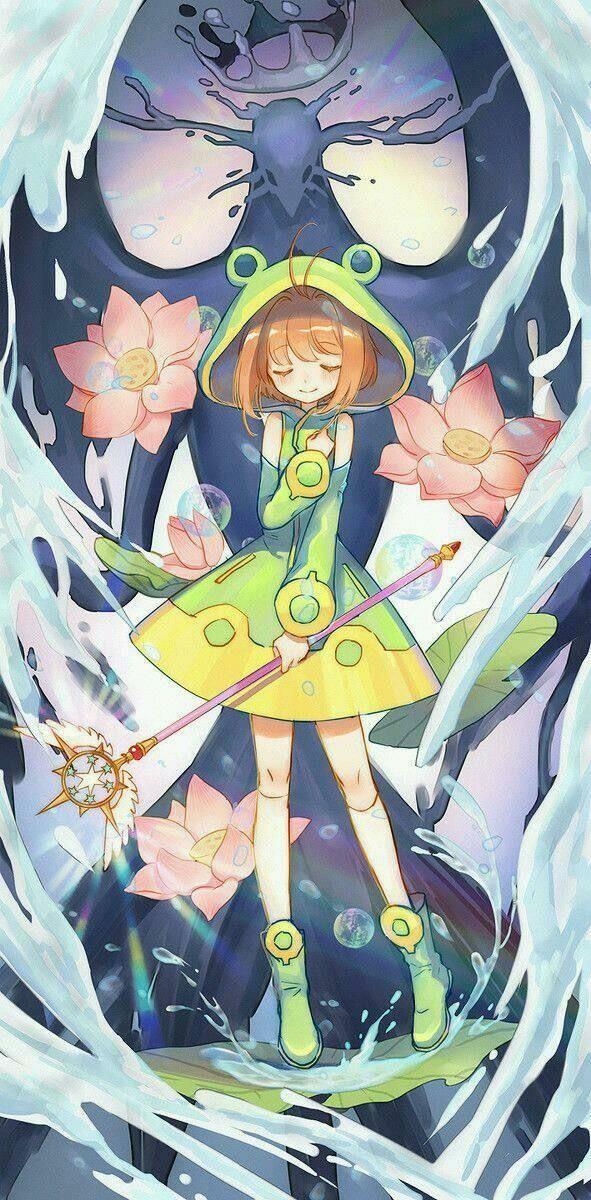 Me gusta mucho el traje de ranita de Sakura, es muy kawaii (>ω<)