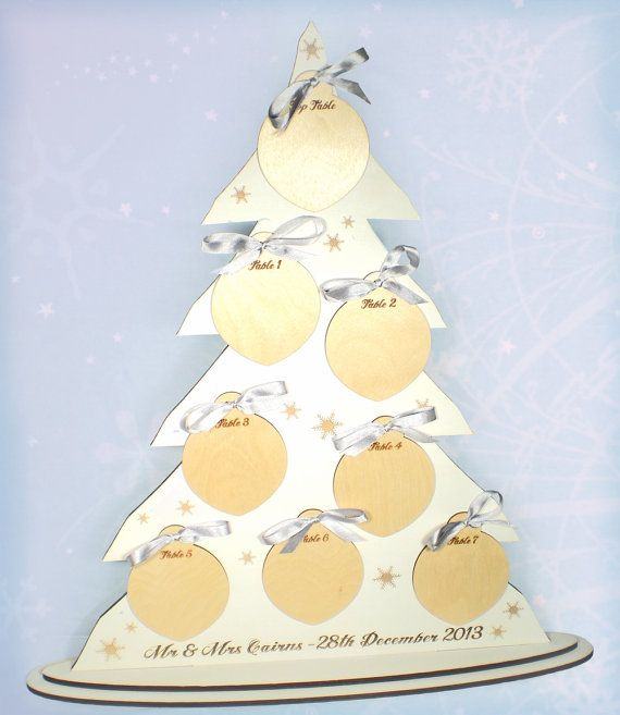 Winter Wedding Seating Plan Wedding Table Plan by TheCrossEyedFox, £92.00