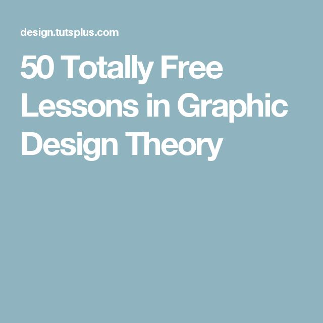 50 Totally Free Lessons in Graphic Design Theory                              …