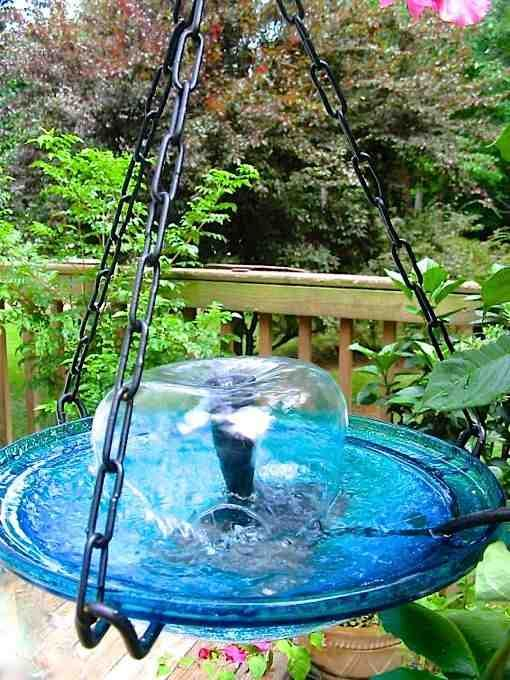 Hanging Bird Bath Fountain Entice More Birds With Moving