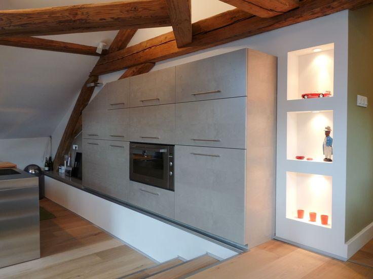 la zona cucina dell'attico