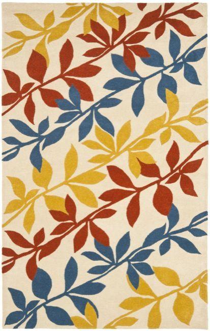 Safavieh Handmade New Zealand Wool Barber Beige Rug (3'6 x 5'6') (SOH764B-4) (Cotton, Floral)