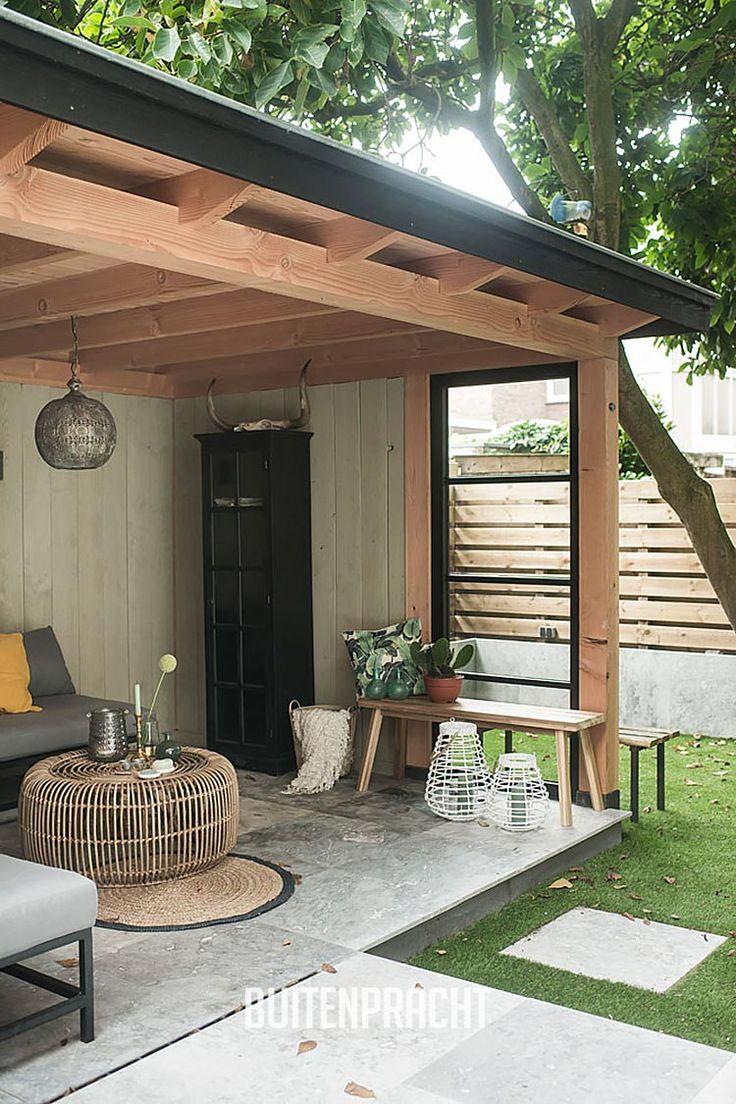 120 best veranda berging overkapping carport houten bijgebouwen images on pinterest - Ontwerp tuinhuis ...