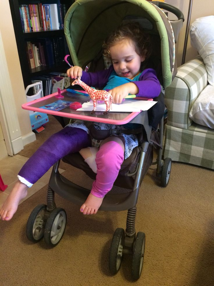 Spica cast chair. We use our Graco stroller as a chair