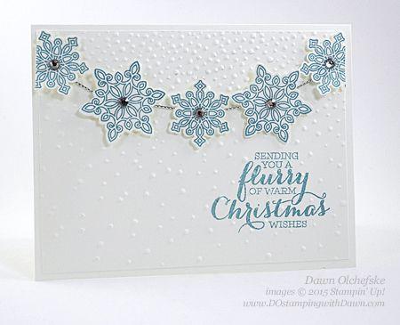 Flurry of Wishes card shared by Dawn Olchefske for DOstamperSTARS Thursday Challenge DSC#158 #dostamping #stampinup