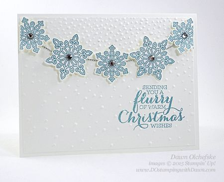 Flurry of Wishes card shared by Dawn Olchefske for DOstamperSTARS Thursday Challenge DSC#158 #dostamping #stampinup