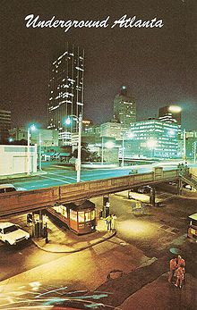 Underground Atlanta c. 1970s...I was last there before the makeover in Oct or Nov 1973; former governor of GA, Lester Maddox was down there glad-handing and selling his axe-handles that night.   kj