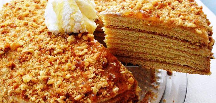 Balın Lezzetle Buluştuğu Değişik Bir Tarif; Medovik Pasta