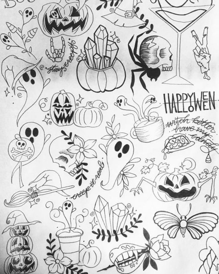 Halloween 2020 Body Under Sheet My previous flash sheets and my NEW Halloween flash sheet!! Small