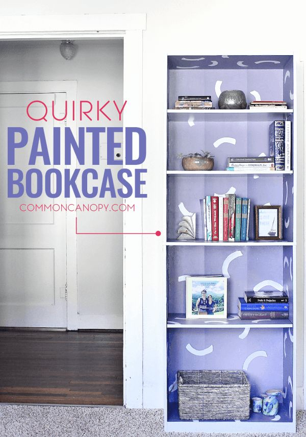 Adding some paint to a regular bookcase can really jazz it up! Tried this same idea and it's now a statement piece in my room! Love