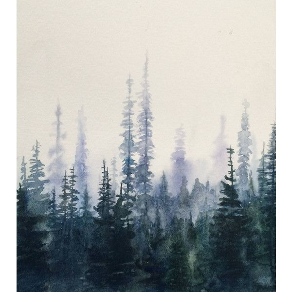pine tree painting pine tree forest watercolor trees forest liked on polyvore featuring pine tree painting watercolor landscape paintings tree painting pine tree painting pine tree forest