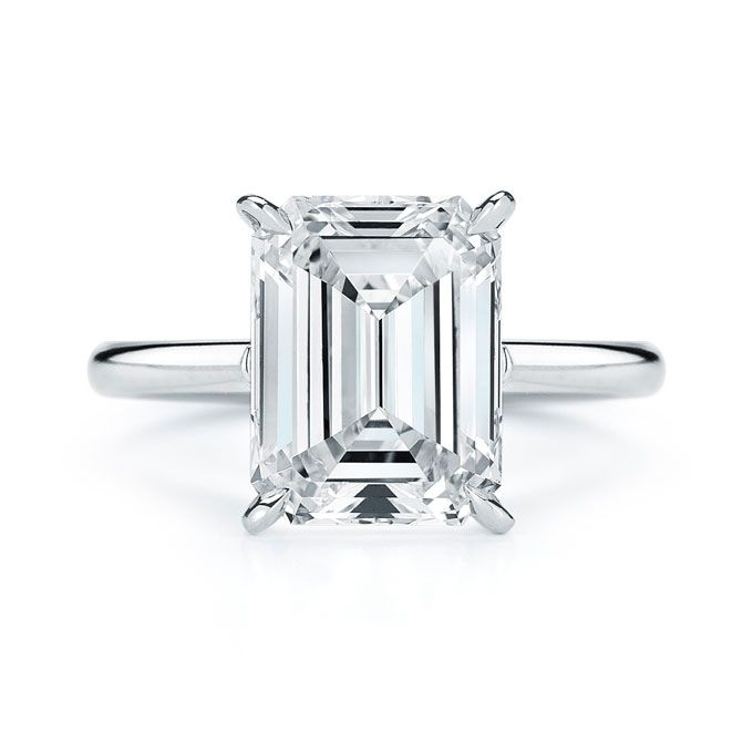 diana 11 n19w100 g emerald cut ringsemerald cut engagement - Used Wedding Rings For Sale