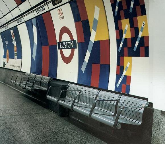 Robin Day created designs for seating for the public sector, such as for sports stadia and waiting areas, including the London Underground