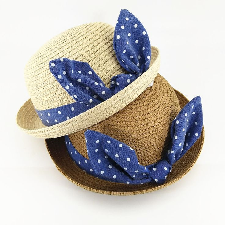 >> Click to Buy << 2017 Children sun hat fresh Korean wind wave point bow baby girl straw hat travel baby beach sun hat for kids photography props #Affiliate