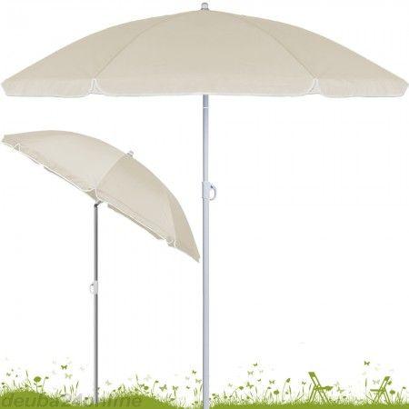 strand sonnenschirm 180 cm h henverstellbar mit neigefunktion beige plants pinterest. Black Bedroom Furniture Sets. Home Design Ideas