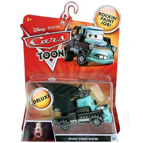 Disney / Pixar CARS TOON 155 Die Cast Car Oversized Vehicle Music Video Mater by Mattel. $49.99. TOY OR COLLECTIBLE. THANKS FOR LOOKING.. TOON DELUXE MUSIC VIDEO MATER. The adventure keeps rolling on! Inspired by the new Cars Toon animated shorts, these character cars let kids play out the fun of the animated adventures! Cars Toon Character Vehicles assortment feature 155 scale diecast cars based on the animated shorts.