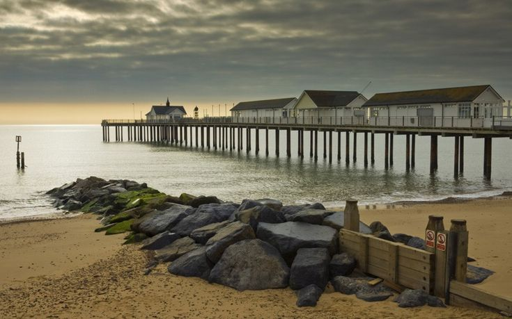 The original pier at Southwold in Suffolk was built in 1900 as a landing stage for steamships travelling from London Bridge. Rebuilt after a storm in the 1930s, it's now said to be Britain's only 21st-century pier.  Picture: Neale Clark / Robert Harding/Rex Features