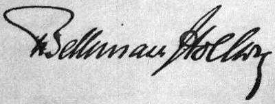 Theobald von Bethmann-Hollweg's signature