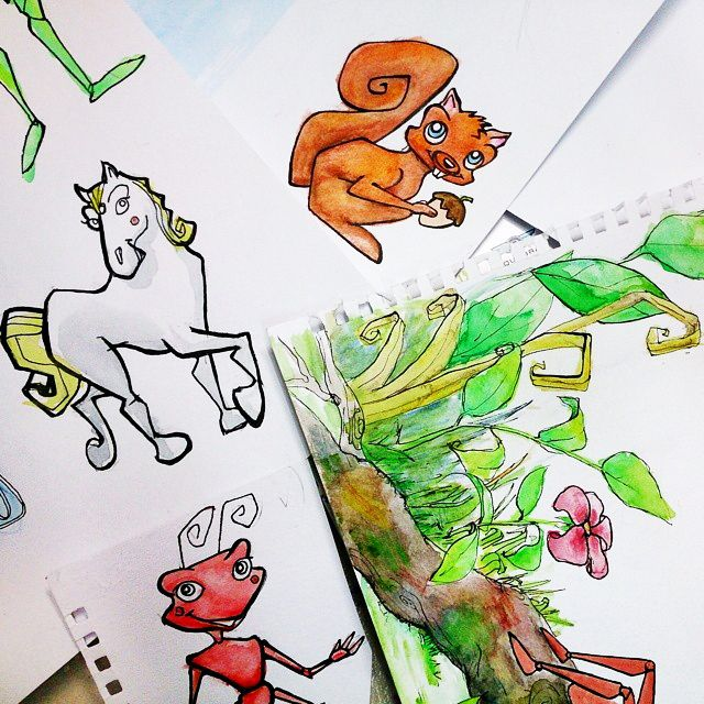 It's back to the drawing board today, for a book long overdue...Oops :-)   #squirrel #nature #horse #pony #ant #illustration #illustrator #childrensbook #picturebook #publish #process #characterdesign #watercolour #penandink 5min Read more at http://web.stagram.com/n/stories2wear/#GI5VlXZVh8MR3TFY.99