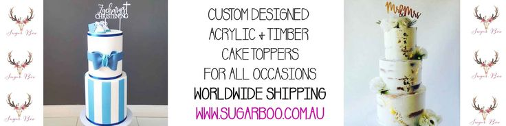 Personalised and Custom Cake Toppers for by SugarBooBespokeGifts