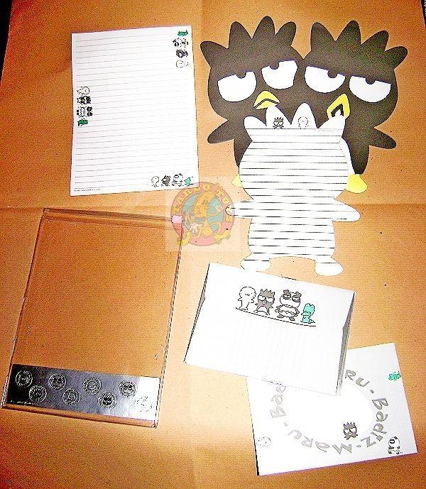 BADTZ MARU 90s Sanrio Japan stationery lettet set - carta da lettere 16+8+8
