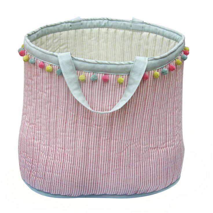 Beach Bag Pink Stripe l Susie Watson Designs