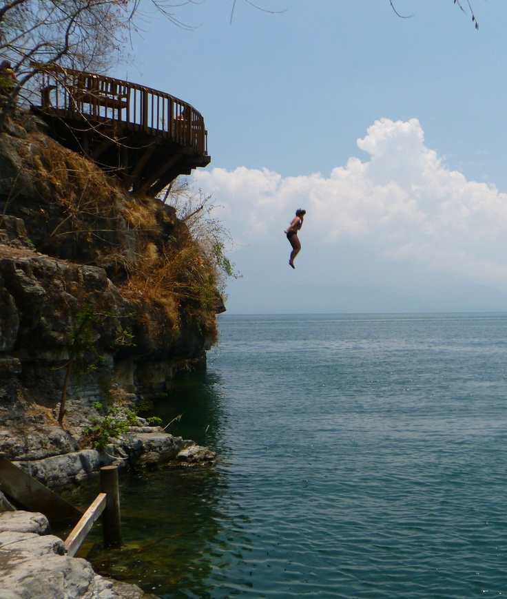 Jumping off high stuff in Guatemala