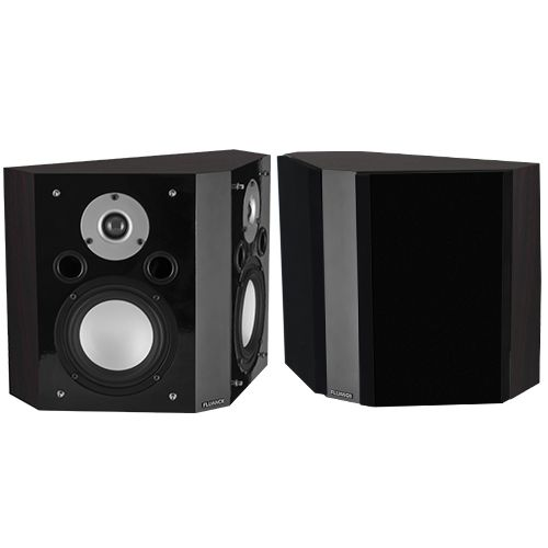 Image of Fluance XLBP-DW Bipolar Surround Sound Speakers for Home Theater-Dark Walnut