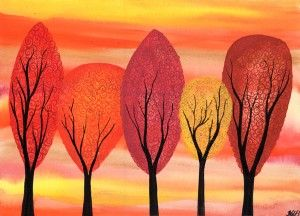 Golden Autumn - Watercolour painting by Kirsten Bailey