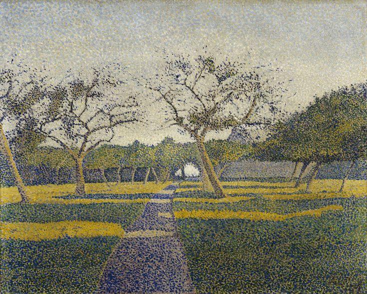 Alfred William (Willy) Finch(1854 –1930) Hedelmäpuutarha La Louvièrestä, 1890. Ateneumin taidemuseo, kok. Antell. Kuva: Kansallisgalleria / Hannu Aaltonen