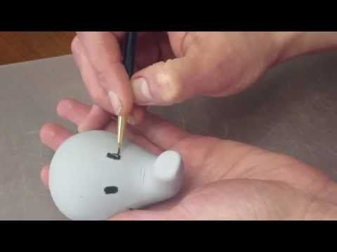 How to make an Fondant Elephant Topper - YouTube