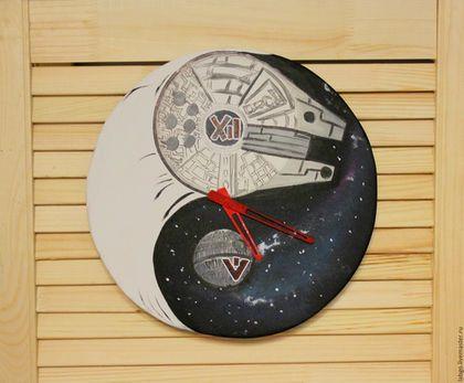 """Часы для дома ручной работы. Ярмарка Мастеров - ручная работа. Купить Настенные Часы """"Тысячелетний сокол"""" Star Wars. Handmade."""