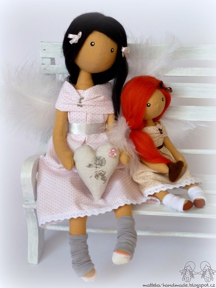hand made by matteka: ♥mother with daughter♥