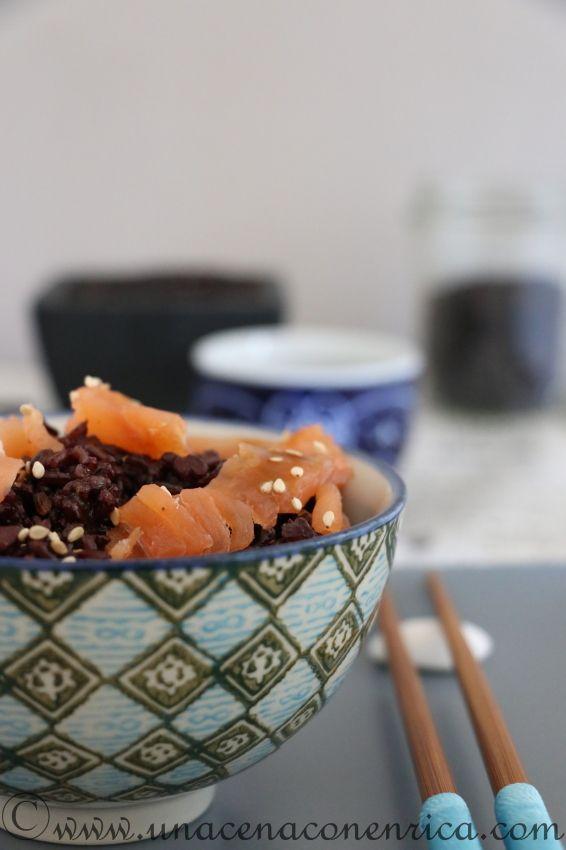 Insalata di riso venere e salmone affumicato   Una Cena con Enrica, imparando a cucinare con passione