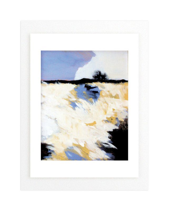 """Snowscape 1"" - Art Print by Megan Kelley in beautiful frame options and a variety of sizes."