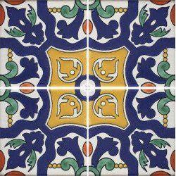 Especial Decorative Tile - Azul Divergente – Mexican Tile Designs