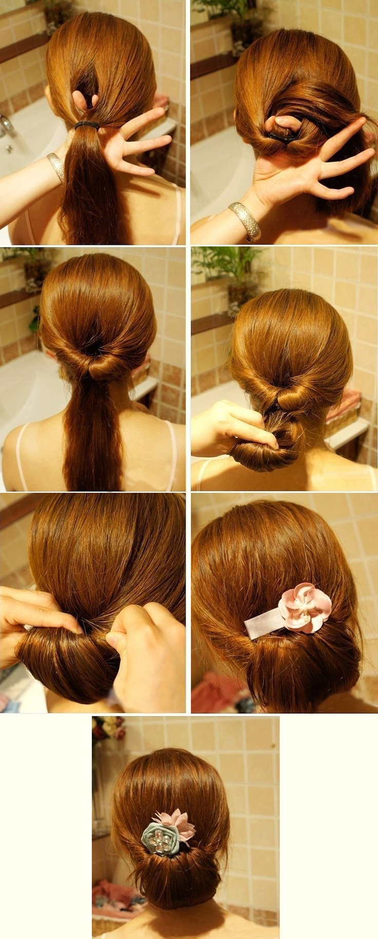 Os proponemos un moño sencillo para estar estupenda en cinco pasos y en cualquier ocasión | We propose you a simple bun to look gorgeous in just five minutes and for every ocassion.
