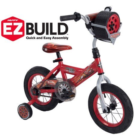 134309b6562 Disney Pixar Cars Lightning McQueen 12 inch EZ Build Bike with Sounds, by  Huffy, Red