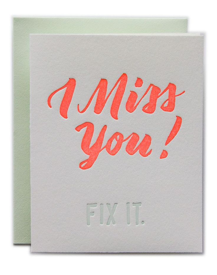 I Miss You - Fix It