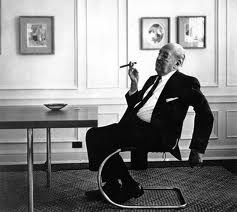 Mies van der Rohe in his Brno chair.