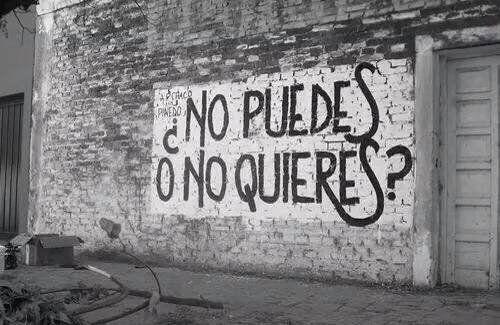 ¿No puedes o no quieres?  #accion #poesia