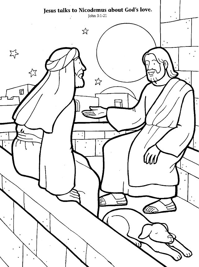 Free jesus bible school coloring pages ~ 1000+ images about Nicodemus on Pinterest | Maze ...