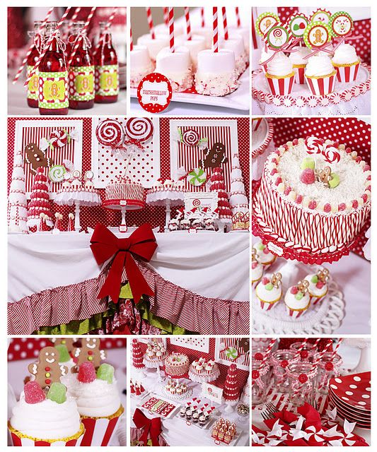 Small Christmas Party Ideas Part - 17: Candy Christmas Party {Christmas Party Theme} This Candy Christmas Party  Table Features Lots Of DIY Projects And Ideas Including Styrofoam  U201ccandies,u201d Santa ...